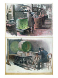 Manufacture of Glass for an Optical Lens, 1900 Giclee Print by Louis Remy Sabattier