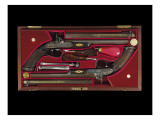 A Cased Pair of 'Best' Percussion Multigroove-Rifled Target Pistols Giclee Print by English School
