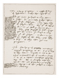 Treatise by Latimer in His Own Handwriting, Contesting the Doctrine of Transubstantiation Giclee Print by  English School