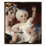 Priscilla, Lady Burghesh, Holding Her Son, the Hon. George Fane, 1820 Giclée-tryk af Thomas Lawrence