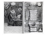 Frontispiece and Titlepage from &#39;Instauratio Magna&#39; by Francis Bacon, 1640 Giclee Print by William Marshall