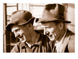 Contentment at Having Found Work Is Expressed on their Faces Giclee Print by  German photographer