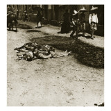 Victims of Government Repression in a Small Town in Mexico, C.1910 Giclee Print by Thompson