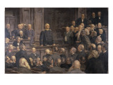 Conference of the German Reichstag on the 6th February 1888, 1896 Premium Giclee Print by Ernst Henseler