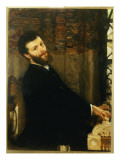Portrait of the Singer George Henschel Playing Alma-Tadema's Piano, Townshend House, 1879 Giclee Print by Sir Lawrence Alma-Tadema
