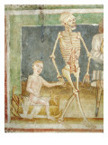 The Dance of Death: Death and the Child, 1490 Giclee Print by Janez Kastav