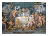 The Noble Banquet Celebrating the Marriage of Cupid and Psyche, Detail Giclee Print by Romano