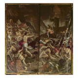 Two Organ Panel Doors Depicting the Fiery Serpents Infesting the Camp of Moses Giclee Print by  Palma Il Giovane
