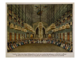Concert of the Royal Band in the Auditorium of the Dresden Opera House Giclee Print by  German School