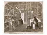 Female Prisoners' Own Clothes Store at Tothill Fields Prison Giclee Print by  English School