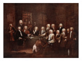 A Committee of the House of Commons at the Fleet Prison, 1729 Giclee Print by William Hogarth