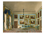 The Blue Velvet Room at Buckingham House, Engraved by Daniel Havell Giclee Print by Charles Wild