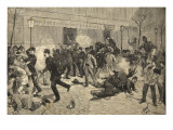 The Riot at Clichy, France, from 'Le Petit Parisien', 1st May 1891 Giclee Print by Beltrand and Clair-Guyot, E. Dete