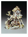 Chelsea Porcelain Farmyard Clock Case, Red Anchor Period, C.1755 Giclee Print by  English School