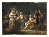 Louis Xiv of France Declaring His Love for Louise De La Valliere Giclee Print by  Schall