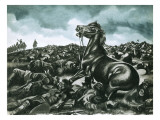 Comanche, the Lone Survivor of Custer's Last Stand Giclee Print by Ron Embleton