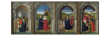 Triptych Showing the Annunciation, the Visitation, the Adoration of the Angels and the Magi Giclee Print by Dirck Bouts
