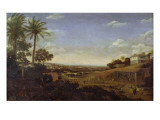 Brazilian Landscape with Sugar Mill, Armadillo and Snake, River Varzea Giclee Print by  Post