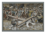 Simon the Cyrenian Compelled to Carry the Cross with Jesus Giclee Print by James Tissot