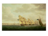 Nelson on the 'Theseus' with the Inshore Squadron Off Cadiz, July 1797, Giclee Print by  Buttersworth
