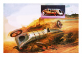 Parry Thomas's Attempt to Regain the Land Speed Record Giclee Print by Andrew Howat