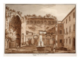 View of the Temple of Venus and Rome, Ruins, 1833 Giclee Print by Agostino Tofanelli