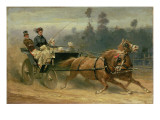 Madame Celestine Nichols Driving in Richmond Park with Her Grandchildren, 1879 Giclee Print by Adam Wray