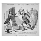 The Attempted Assassination of General Andrew Jackson Reproduction procédé giclée par American School