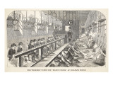 The Workshop under the 'silent System' at Millbank Prison Giclee Print by  English School