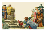 King Henry Viii and Sir Thomas More on a Garden Terrace Giclee Print by C.l. Doughty