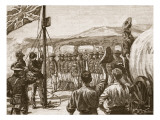 British South Africa Company's Pioneering in Mashonaland, 1890 Giclee Print by William Barnes Wollen