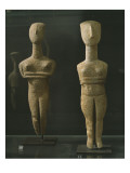 Folded-Arm' Type Female Figurines, from Paros, Early Cycladic Ii Period Giclee Print by  Greek