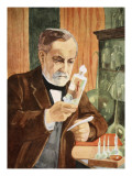 Pasteur in His Laboratory, Copy by Boris Mestchersky Giclee Print by Albert Edelfelt