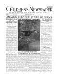 Amazing Creature Comes to Europe, Front Page of 'The Children's Newspaper', August 1919 Giclee Print by  English School