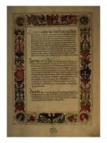 Page from the 'Geheim Ehrenbuch Des Fuggerschen Geschlechts' Giclee Print by  German School