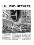 City of the Future, Front Page of 'The Children's Newspaper, February 1963 Giclee Print by  English School