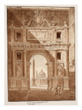View of the Porta Flaminia, or Porta Del Popolo, 1833 Giclee Print by Agostino Tofanelli