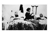 Nurse Attending Wounded Soldiers in Hospital, Nashville, Tennessee Giclee Print by American Photographer 