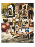 Life in the Indus Valley Between 2500 BC and 1600 Bc Giclee Print by Ron Embleton