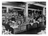 Canned Goods Counter at Macy's Department Store, Herald Square, New York City, C.1898 Giclee Print by  American Photographer