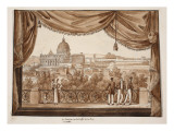 The Vatican Seen from the Caffe De La Promenade, 1833 Giclee Print by Agostino Tofanelli