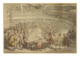 A Conversation at the 'surgeons Hall', Old Bailey, London Giclee Print by  Rowlandson