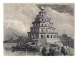 The Great Lighthouse of Alexandria, from a Series of the 'seven Wonders of the World', 1886 Giclee Print by Ferdinand Knab