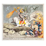 Presages of the Millennium, Published by Hannah Humphrey in 1795 Giclee Print by James Gillray