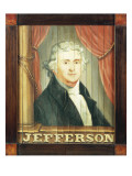 An Important Tavern Sign Depicting Thomas Jefferson and James Madison Gicléedruk van Edward Hicks