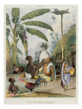The Village Barber, Plate 6 from 'Indians', Engraved by J. Bouvier, 1842 Giclee Print by Tayler