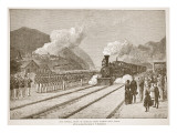 The Funeral Train of General Grant Passing West Point, from a Book Pub. 1896 Giclee Print by Alfred Rudolf Waud