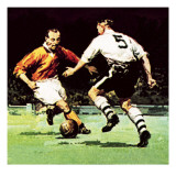 Stanley Matthews About to Win His One Cup Winner's Medal Giclee Print by McConnell