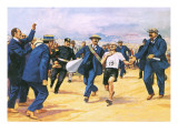 Dorando Pietri, a Gallant Marathon Runner from the 1908 London Olympics Giclee Print by Alberto Salinas
