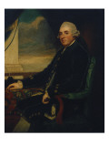 Portrait of the First Earl of Farnham, Seated, Three-Quarter Length, by an Open Window Giclee Print by  Romney